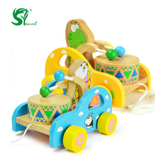 Toys for children Frog/Bear Hitting Drum Toy/Baby Children Educational Wooden Toys Doll Birthday Gift Childhood/Adulthood