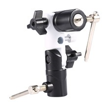 "Swivel Camera Flash Shoe Umbrella Holder Light Stand Bracket Tripod 1/4""-3/8"" Conversion Screw Adapters Bracket U Type DSLR(China)"