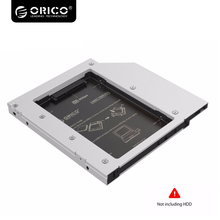 ORICO Aluminum 2.5 inch SATA 3.0 Hard Drive HDD SSD Caddy Case Tray for PC Da Laptop12.7mm CD DVD Drive Slot(China)
