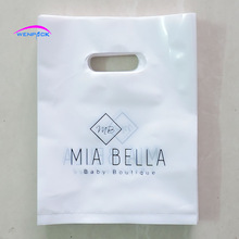 25x35cm custom shopping handle plastic gift bag/plastic packaging bag for shoes/printed LOGO promotion bag/200pcs