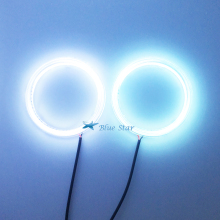 2x Led COB 100mm 72 SMD Auto Halo Rings Angel Eye DC 12v Car Angel Eyes Motorcycle Headlight Daytime Running Light DRL