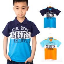 Meney's / OshKosh 2017 Summer Polo Shirts for Boys Casual Baby Top Classic Spraying Letter Clothes for Kids Sport Polo Shirt Tee