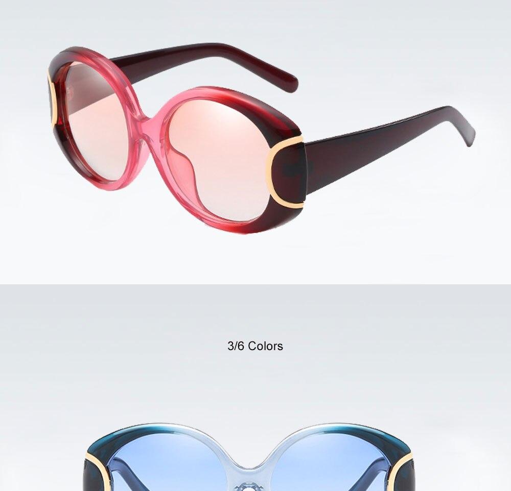 VEGA Eyewear Fashion Oval Sunglasses Women for Big Face Ladies Oversized Glasses with  ( (6)