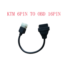 KTM 6 pin to obd 16 pin adapter cable for TuneECU software to Motorcycle motorbikes ECU 6pin cable(China)