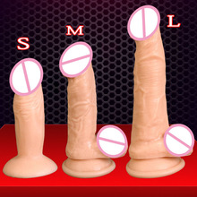 Buy Special offer realistic small dildo suction cup artificial penis PVC soft mini dildo anal plug adult sex toys dildos women