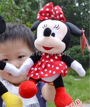 30cm High Quality cute Mickey mouse plush toys or Minnie mouse doll children gifts 1pcs(China)