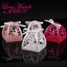 50Pcs Laser Cut Dance Girl Baby Shower Candy Box Party Favors Gift Box Favors Box Wedding Box For Party Supplies