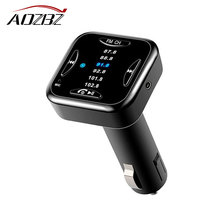 Aozbz Bluetooth 4.0 Car Kit Music Player FM Transmitter Modulator with 6 FM Channel Support Handsfree Call 2.1A USB Car Charger(China)