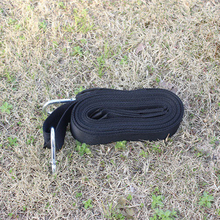 DOORSACCERY 3M Hammock Strap Rope with Hanging Belt Metal Buckle Hooks Load Bind Black Camping Hiking Hammock(China)