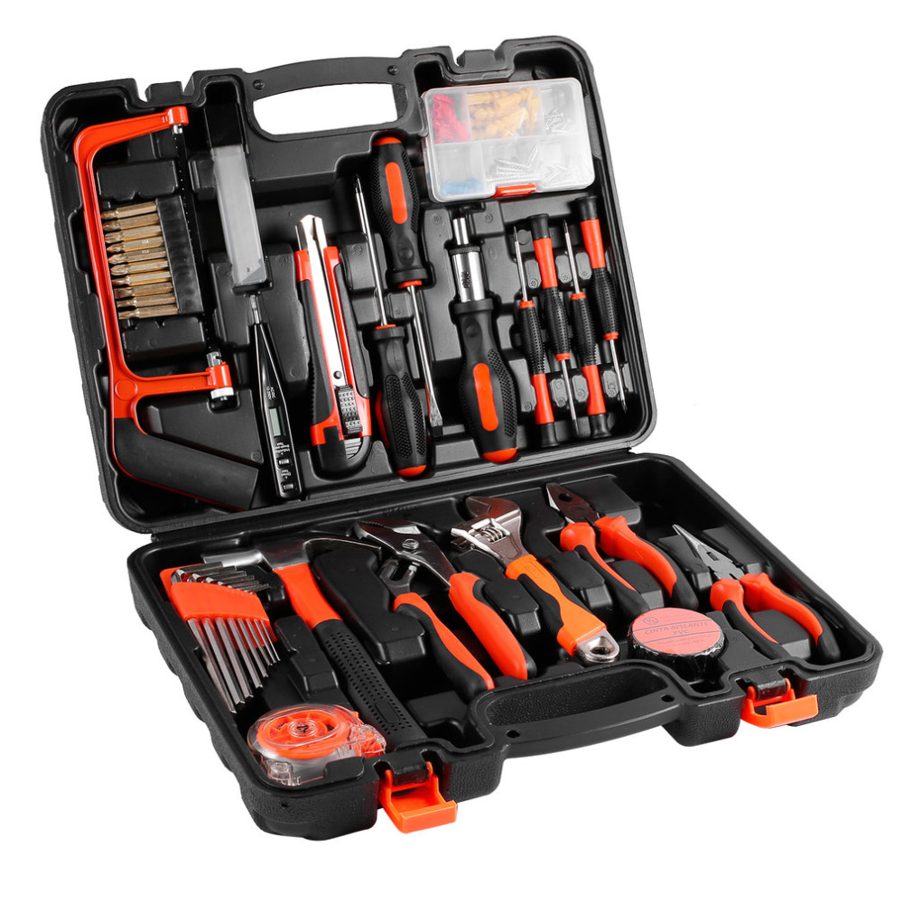 100 Pcs Robust lightweight Universal Multi-functional Precision Maintenance Repair Hardware Instrumental Sets Home Tool Kits<br>