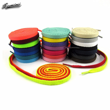 100cm High Quality Polyester Fashion Sports Casual Shoe Lace Solid Flat Shoelace Cordones Zapatilla 24 Colors