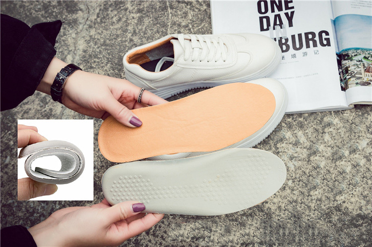 17 Women White Shoes Autumn Winter Soft Comfortable Casual Shoes Flats Platform Sneakers Real Leather Shoes Sapato Feminino 28