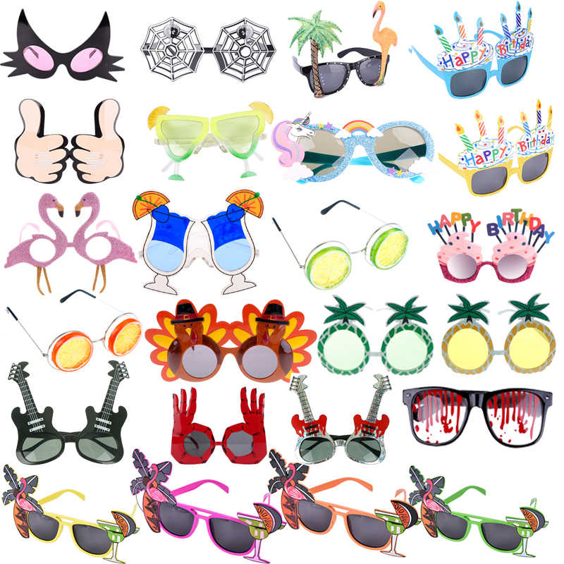 Hawaiian Themed Men Women Funny Beach Sunglasses Sun Glasses Party SupplPL