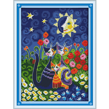 Cats Under The Sun Counted Cross Stitch DMC Cross Stitch DIY 11CT 14CT Cross-Stitch Kit Handmade Embroidery for Needlework WR013