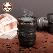 New Coffee Lens Emulation Camera Mug Cup Beer Cup Wine Cup Without Lid Black Plastic Cup&Caniam Logo 480ML M126 MUG-20(China)