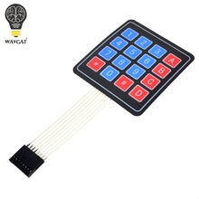 Free Shipping New 16 Key 4 x 4 Membrane Switch Keypad 4x4 4*4 Matrix Array Matrix keyboard(China)