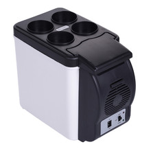 Mini 6L Warming Cooling Car Refrigerator DC 12V for Vehicle auto freezer heat fridge Keep cool warm multi function with charger