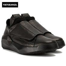 Italiano primavera 2018 nuevos hombres Cuero auténtico sneakers casual  Zapatos transpirable gótico baile calle sapato Masculino b1c5af182c1