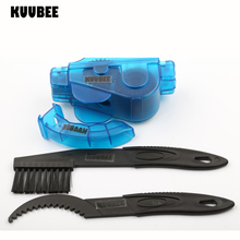 KUUBEE 1SET Bicycle wash chain box cleaner + Chain Cleaner Brush Mountain MTB Bike repair tools Motorcycle Stereo cleaning