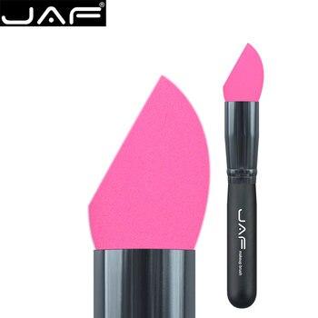 Retail jaf sin látex maquillaje fundación esponja ecológico beauty cosméticos huevo puff maquillaje esponja blender brush 16hxp-b