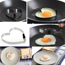 Cook Fried Egg Pancake Omelette device Stainless Steel Heart Shaper Mould Mold 10.5*9.1.2CM Kitchen Tool Rings Free shippingB016(China)