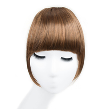 Buy ELEGANT MUSES Fake Fringe Bangs Clip Ons 6 Inch Short Straight Front Neat Synthetic Hair Pieces Blunt Bangs Women for $4.62 in AliExpress store