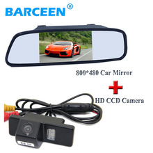 "High resolution 5"" car reversing monitor+car rear camera for NISSAN QASHQAI X-TRAIL for Citroen C4/C5 for Peugeot 307 Hatchback(China)"