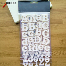 ZLDECOR Glitter White Alphabet Chipboard Stickers for DIY scrapbooking Stamping Planner/photo album Decorative Craft(China)