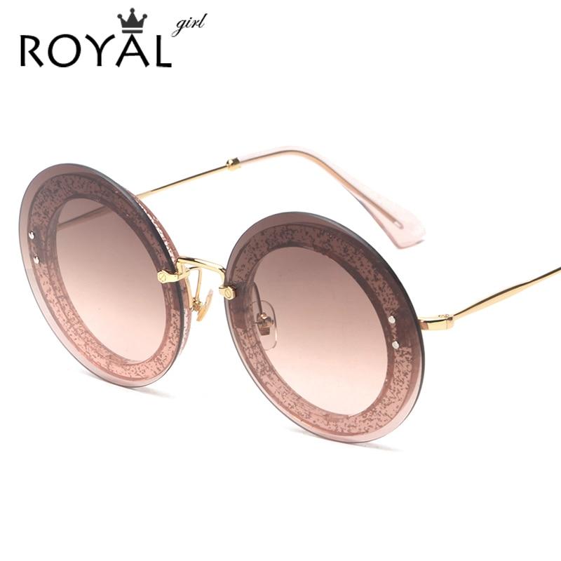 ROYAL GIRL Round Rimless Sunglasses Women Vintage Sun Glasses Women Female Brand Design Mirrored Lens UV400 Glasses Oculos SS806<br><br>Aliexpress