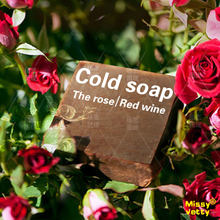 Red Wine  rose petals handmade Soap whitening  moisturizing skin reducing pigmentation removing freckles for sensitive skin