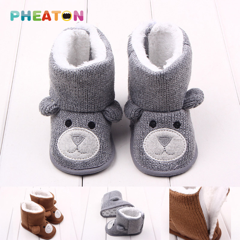 Winter Warm Baby Shoes Knitted Toddler Snow Boots Newborn Baby Shoes First Walker Cute Animal Baby Boy Baby Girl Shoes<br><br>Aliexpress