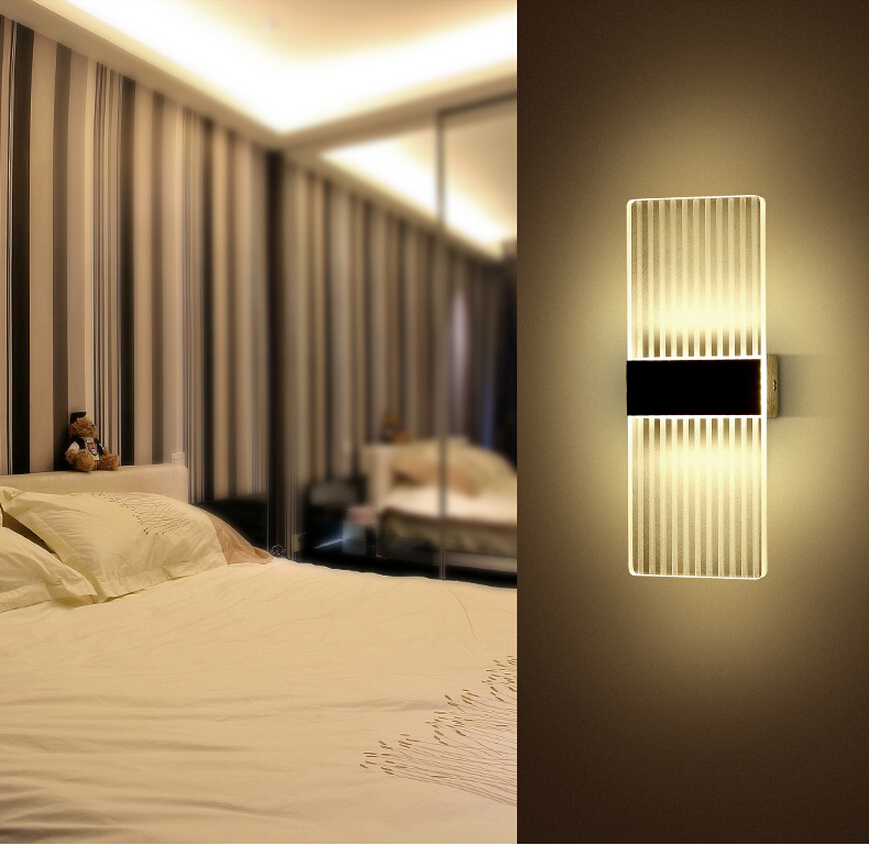 High quality 6W Led Acryl Wall Lamp AC85-265V 270mm Long warm white Bedding Room, Living Room, Indoor wall lamp Y-19<br><br>Aliexpress