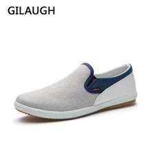 New 2016 Men Fashion shoes Linen Woven Patchwork Casual shoes Breathable Man Leisure Shoe
