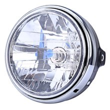 2016 Motorcycle Crystal Round Headlight Modified Headlamp Assembly for Honda Bumblebee CB400 / 900 Clear Signal Indicates 12V
