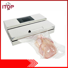 220V Electric Vacuum Food Sealer Semi-Autimatic For Vacuum Packed Fish Sea Food with Micro Control panel(China)