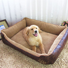 Free shipping,plus thick Waterproof large dogs bed washable pet house teddy dog house big size mats(China)