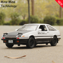 MINI AUTO 1:28 Free Shipping Toyota Trueno AE86 Alloy Diecast Car Model Pull Back Toy Car model Car children Kid Toy Light sound