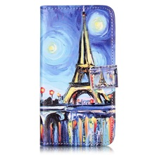 Cover for Lenovo Vibe K5 Plus Case Embossed PU Leather Case for Lenovo Vibe K5 Plus / Vibe K5 Cover Starry Sky and Eiffel Tower