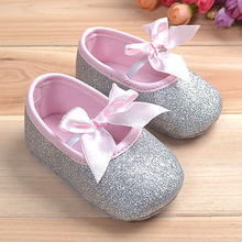 2017 New Baby Girls Firstwalker Crib Shoes Light Cloth Soft Sole Princess Prewalker Anti-slip Baby Toddler Infant Firstwalker(China)