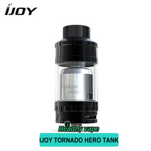100% Original IJOY Tornado Hero Two Post Build Deck RTA Sub Ohm Tank 25mm Diamater Electronic Cigarette Fit 510 Thread Box Mod