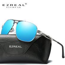 EZREAL UV400 Pilot Sun Glasses Men HD Polarized Sunglasses Brand Logo Design Driving Glasses Goggles Oculos de sol #2646(China)