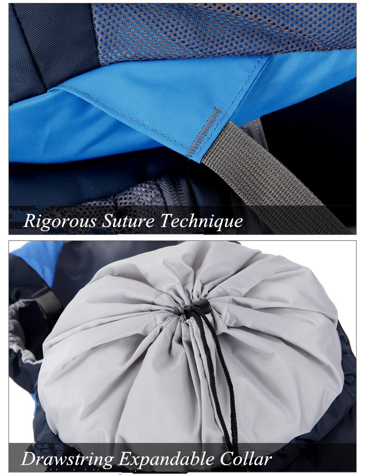Rigorous suture technique and drawstring expandable collar