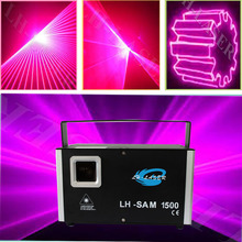 1500mW multi color sound active laser animation beam disco lights(China)