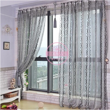 Quality finished product  window screening garden curtain balcony decoration yarn/tulle/voile Striped blind curtains partition