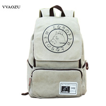 Hot Cartoon Canvas Backpack Anime Totoro Large Capacity Travel Backpack Students Computer Shoulders Bag Rucksack Mochila(China)