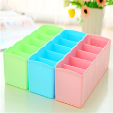 Plastic Drawer Type Storage Box Household Table Top Underwear Socks Bra Underwear Tie Sub Compartment Box No Cover