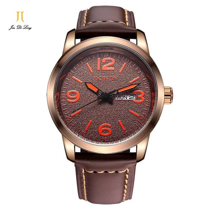 Brand OCHSTIN sports watch fashion genuine leatehr watch mens quartz watch business men watch waterproof free shipping<br>