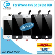 1 pc quality OEM digitizer display LCD screen for iPhone 4 4S 5 5S 5C SE free shipping