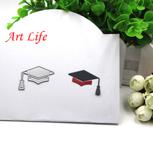 2017 Academic Caps Metal Cutting Dies Stencils for DIY Scrapbooking/photo album Decorative Embossing DIY Paper Cards Craft Gift(China)