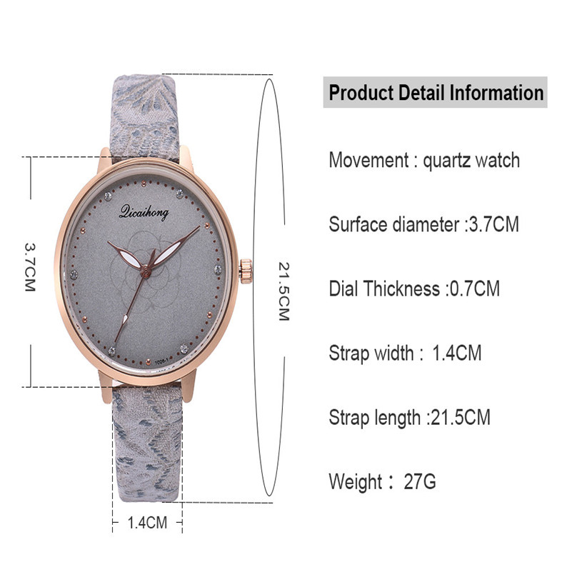 High Quality women fashion casual watch luxury dress ladies Leather Band Analog Quartz Round Wrist Watch clock bracelet M21 (25)